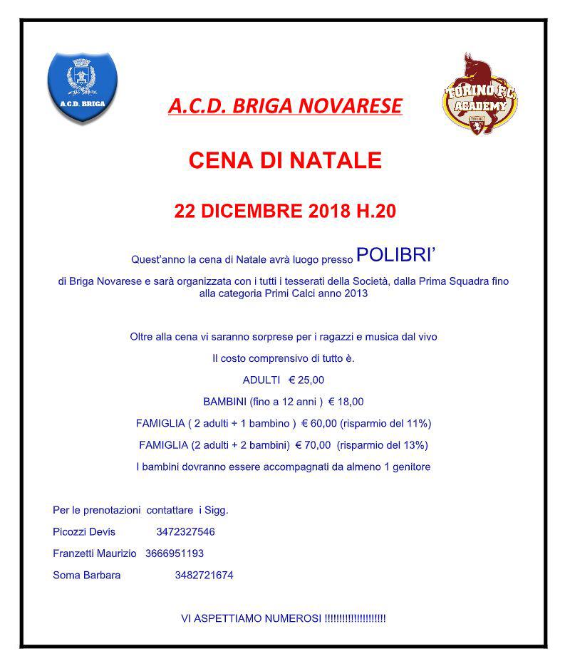 Cena Natale ACD Briga Novarese 2018