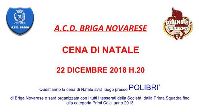 Cover cena Natale ACD Briga Novarese 2018